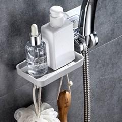 매직접착 샤워기둥선반 겸용 샤워기걸이