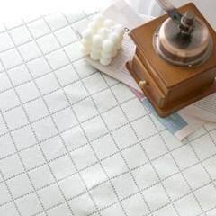 광폭원단 7수 면 + 폴리 혼방 쿠잉 다이아몬드 체크