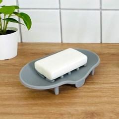 소프트 실리콘 욕실 다용도 비누 받침대 1개