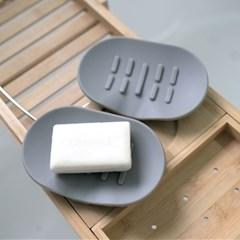 1+1 소프트 실리콘 욕실 다용도 비누 받침대