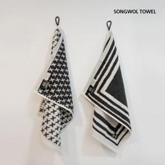 SONGWOL 호텔컬렉션 주방핸드타월 어린이집 고리수건 (34x42cm)