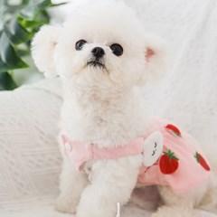 편안하고 기분좋은 애견 딸기 민소매 원피스CH1762982