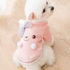 편안하고 기분좋은 애견 리본 토끼 맨투맨 CH1762980