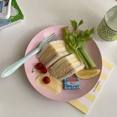 파스텔레인보우 법랑 스푼포크세트 (6color 커트러리 캠핑 양식기)