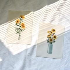미니 포스터 / 패브릭 포스터_sunflower/해바라기 B (4종세트)