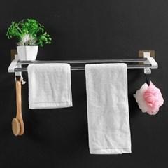 무타공 접착식 스틸 2칸 욕실 수건걸이