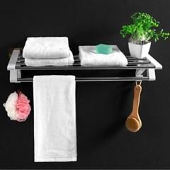 무타공 접착식 스틸 4+1칸 욕실 수건걸이