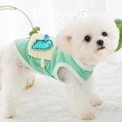 도그웨그 공룡 쿨 나시 강아지 민소매 여름 옷