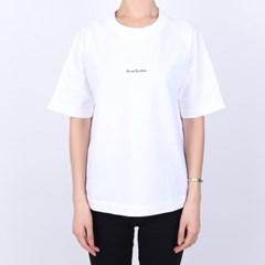 21FW 아크네 로고 티셔츠 (여성/화이트) AL0135 WHITE