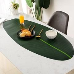 주방 식탁매트 감성 테이블보 바나나잎 테이블매트