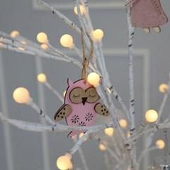크리스마스트리 오너먼트 클리어볼 요정핑크 장식세트