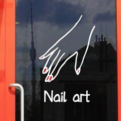 nail art 손모양 네일아트 가게 인테리어 스티커