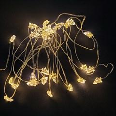 인테리어 조명 LED 와이어 트리캡 전구 30구 건전지형