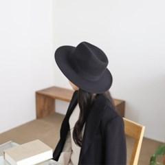 여자 캐주얼 무지 유니크 스트랩 포인트 페도라 모자