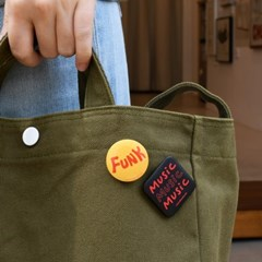 [pin button] FunkⅡ 펑크 타이포 음악 뮤직 핀버튼 브로치