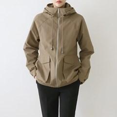 여자 캐주얼 스타일리시한 투포켓 사파리 자켓