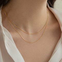 14K Gold Daily Angle Chain Necklace (14k골드)(2type) s07