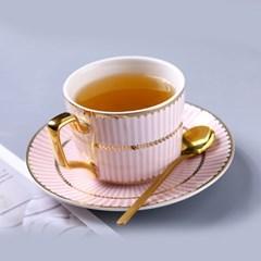 감성 북유럽 골드라인 고급 커피잔 티스푼 세트 A11