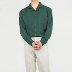 여름 남자 커플 루즈핏 카라넥 무지 레트로 긴팔 롱셔츠