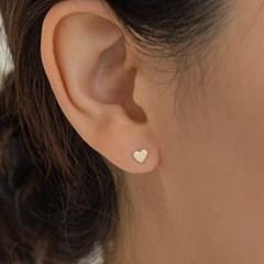 14K Gold Flat Heart Piercing, Earrings (14k 골드) s16