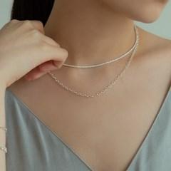 청키 로프 체인 목걸이 (925실버) SUM08
