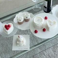 [비비드] 천연 곰돌이 케이크캔들 생일케이크 답례품 집들이