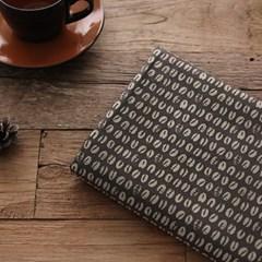 [Fabric] 커피콩 스탬프 패턴 코튼