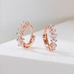 [새미쥬얼리] 14k 쁘띠 큐빅 원터치 귀걸이