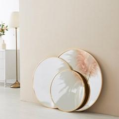 스노우 무광 골드 프레임 원형 거울 650