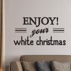 enjoy your white christmas 크리스마스 장식 스티커