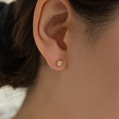 펌킨 하프 볼 귀걸이 (14k골드) c11