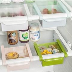 냉장고 길이조절 클립형 서랍 수납 선반 트레이-고정형