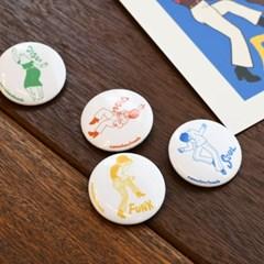 [pin button] Dance of 70s 댄스 펑크 소울 디스코 핀버튼 브로치