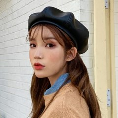 레더 베레모 예쁜 팔각모 뉴스보이캡