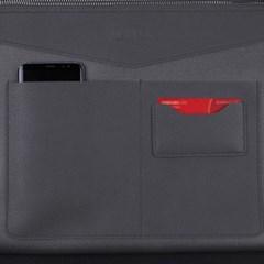 헤이플 비건레더클러치 vegan leather clutch (gray)