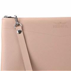 헤이플 비건레더클러치 vegan leather clutch (beige)
