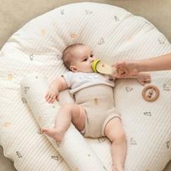 에시앙 모데즈 누빔 자수 아기 원형러그 (커버+솜) (택1)