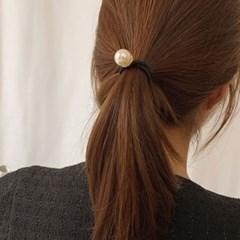 [당일배송][1+1][4 color] 원포인트 진주 방울 머리 고무줄 머리끈