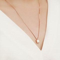 925 silver+18k rose gold 천연 자개 로즈골드 네크리스
