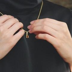 925 silver+18k gold [color vine] 호안석  네크리스