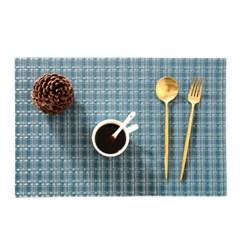 직조 짜임 질감 PVC 방수 식탁 매트 테이블 받침 깔개 J