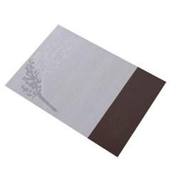 모던 비대칭 투톤 컬러 방수 식탁 테이블 매트 깔개 J