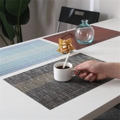 빈티지 패브릭 PVC 방수 티 테이블 매트 식탁 패드 J