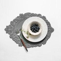 벨류세라믹 아멜리아 플레이트 실리콘 테이블매트 오벌 6colors