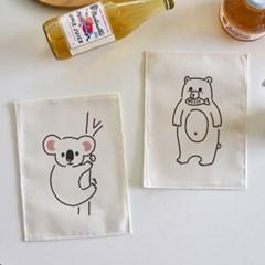 미니 포스터 / 패브릭 포스터_animal drawings (4종세트)