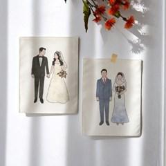 미니 포스터 / 패브릭 포스터_young couples (4종세트)