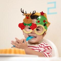 크리스마스 산타 안경 루돌프 눈사람 반짝이 안경 파티용품