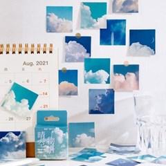 감성 하늘 구름 사진 다꾸 스티커팩 다이어리꾸미기