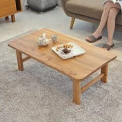 [리앳홈] 솔내음 소나무원목 접이식 교자상 테이블 4사이즈