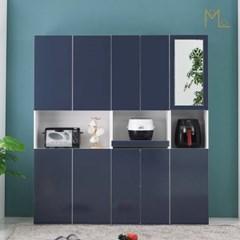 누노 1800 컬러선택 키큰 다용도 주방수납 거울틈새장 선반 세트